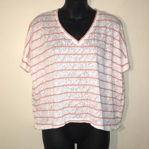 Forever 21 Woman's Sheer VNeck Blouse Small